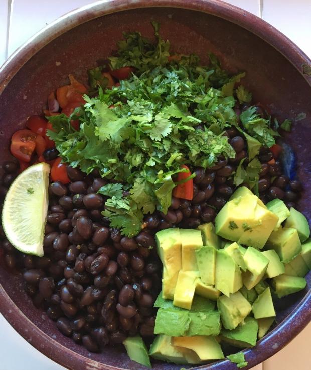 Making bean salad